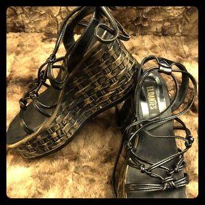 90s Vintage El Dantes Gladiator Platforms Sandals